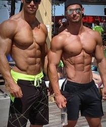 Kris Evans and friend