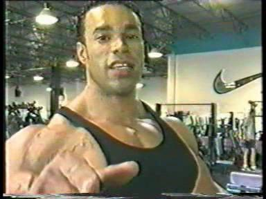 Kevin Levrone 100 pound dumbbell curls