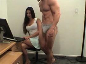 big guy and petite girl fucking