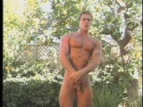 Muscle Posing outside