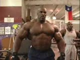 Ronnie Coleman flexing