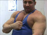 Massive Muscle Man Tony Maxim-Big Pec's/Gut Play