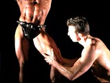 Muscle worship: Master and slave