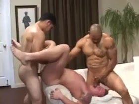 muscle hunk horny sex threesome - Juan Steel, Miguel Temon, and Justin Jameson