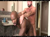 muscle bear dad dominates a brutha - Josh West and Race Cooper
