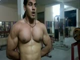 Bodybuilder huge pecs & large nipples