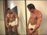 Hung Muscle Daddy Flexes and Cums