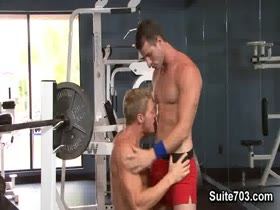 Gavin Waters and Rusty Stevens in the Gym
