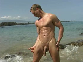 Hugely Hung Hunk at the Beach