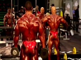 2014 Mr Olympia Pumproom - Part 2 Open Division