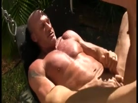 stud hunk dads outdoor sex
