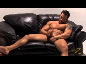Angel Diablo: Leather Couch Strokin