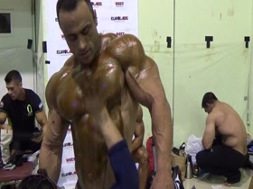 Handsome Persian (Iranian) Bodybuilder Oiled in WBPF Championship