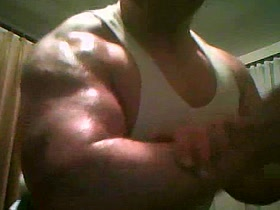 MASSIX - Massive Powerful Biceps Flexing in Undershirt