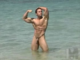Hairy Muscle at the Beach