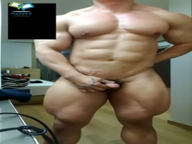 huge bodybuilder solo