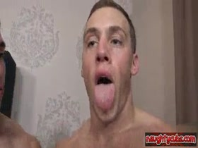 Two muscle studs fuck and rim