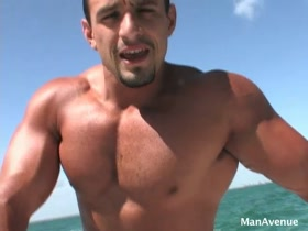 Macho Nacho aka Ignacio Torres shows off on a boat