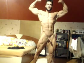 fit couple - amazing guy flexing nude
