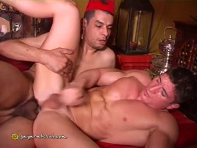 Muscle French Dude Sucks Hung Arab