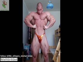 Michal Križo Križánek HUGE Muscular Slovak Bodybuilder 2018   Posing Workout