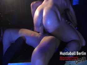 Muscle Stud Billy Santoro fucked on stage