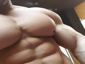 More of Rado's huge, meaty, juicy, pumped, hardon-causing perfect pecs and nips