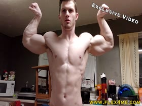 EXCLUSIVE VIDEO: Super Massive Biceps Monster Flexing his guns