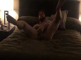 Hot muscle sub with dildo