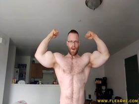 EXCLUSIVE: Massive Arms flexing hard and showing off