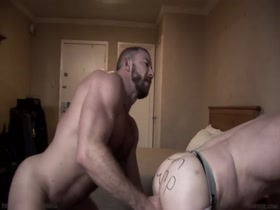 Raunchy Muscle Daddy Bareback Breeding
