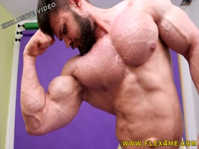 Super Massive Biceps getting pumped and veiny