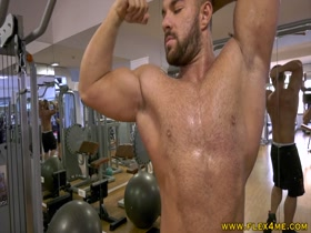 Pumping biceps and getting sweaty