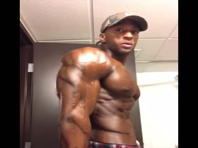 8 Hot, Huge, Pumped, Jacked, Flexing and Fuckable Black Muscle Gods