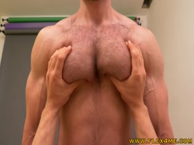 Huge and Hairy Pecs Worshipped