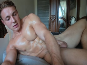 Horny webcam stud jerks and showers