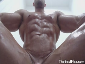 smooth muscle stud jerks off