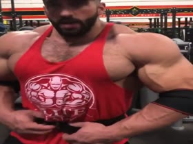 monster muscle at gym