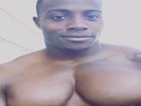 Big black meaty juicy pumped up popping pecs - 9 amazing sets of pecs