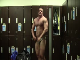 Muscle Daddy Changing Room