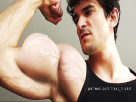 musclegrowth morph biceps growing veins