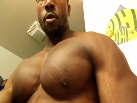 Love Black Muscle Tops who love their pecs punched and slapped
