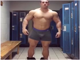 Huge guy shows off