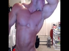 Massive young white bodybuilder