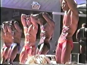 80's Beach Bodybuilding Competition