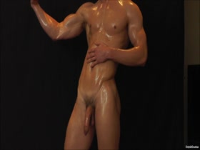 Nathan Green oiled up
