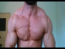 Vascular flexing in front of camera