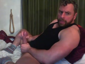 Muscle Solo Cumshot