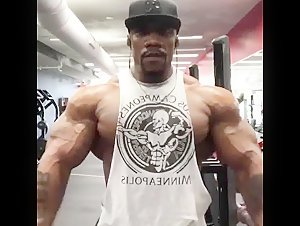 Brut Black Thug Muscle Flexing
