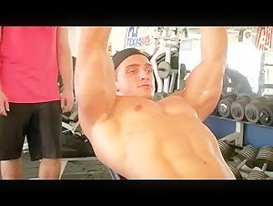 Cody Montgomery back workout and posing